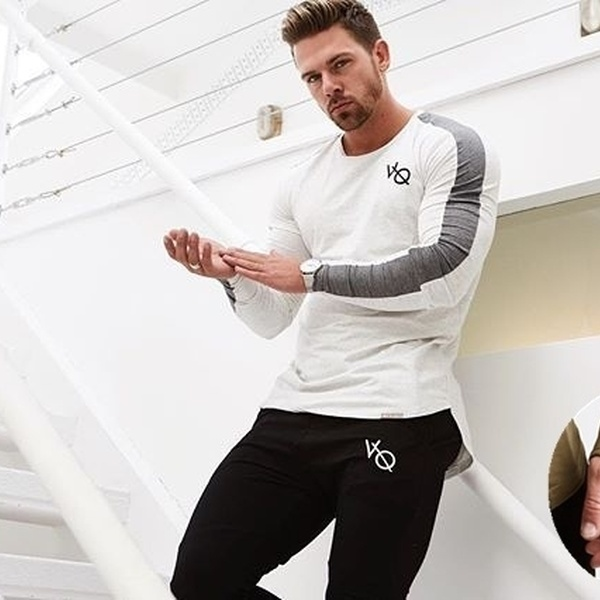 0c9ba4af Men's Fitness Soft Training Jogging Long Sleeves Hoodies Muscle Fit Clothes  Bodybuilding Stringer Tops Singlet Athletic Sweat Shirts