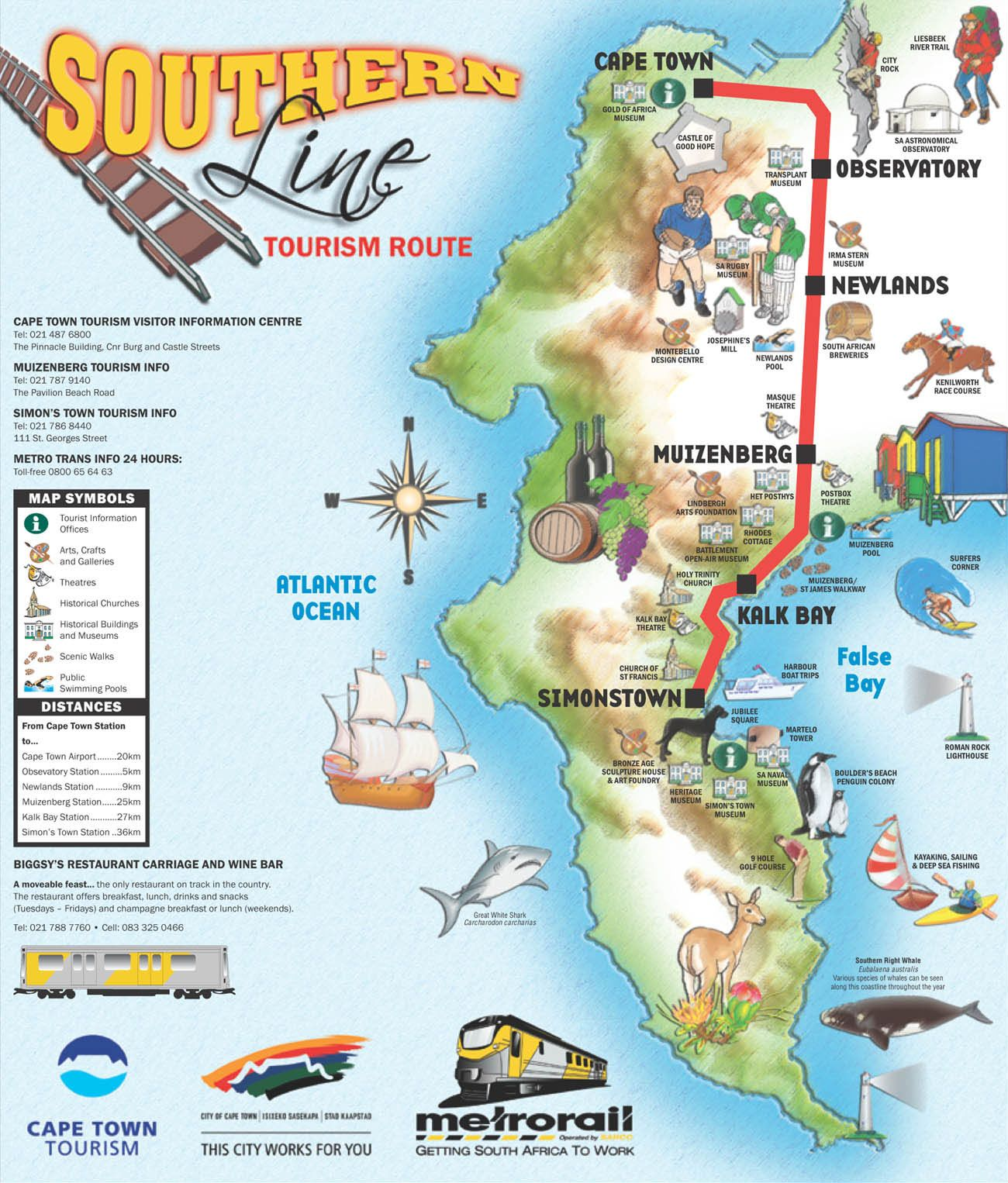 hoponmapjpg 1 3001 526 pixels Cape Town tourist map Pinterest