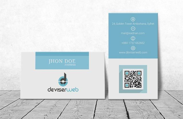 Clear Free Mockup Business Card Presented In Horizontal And Vertical