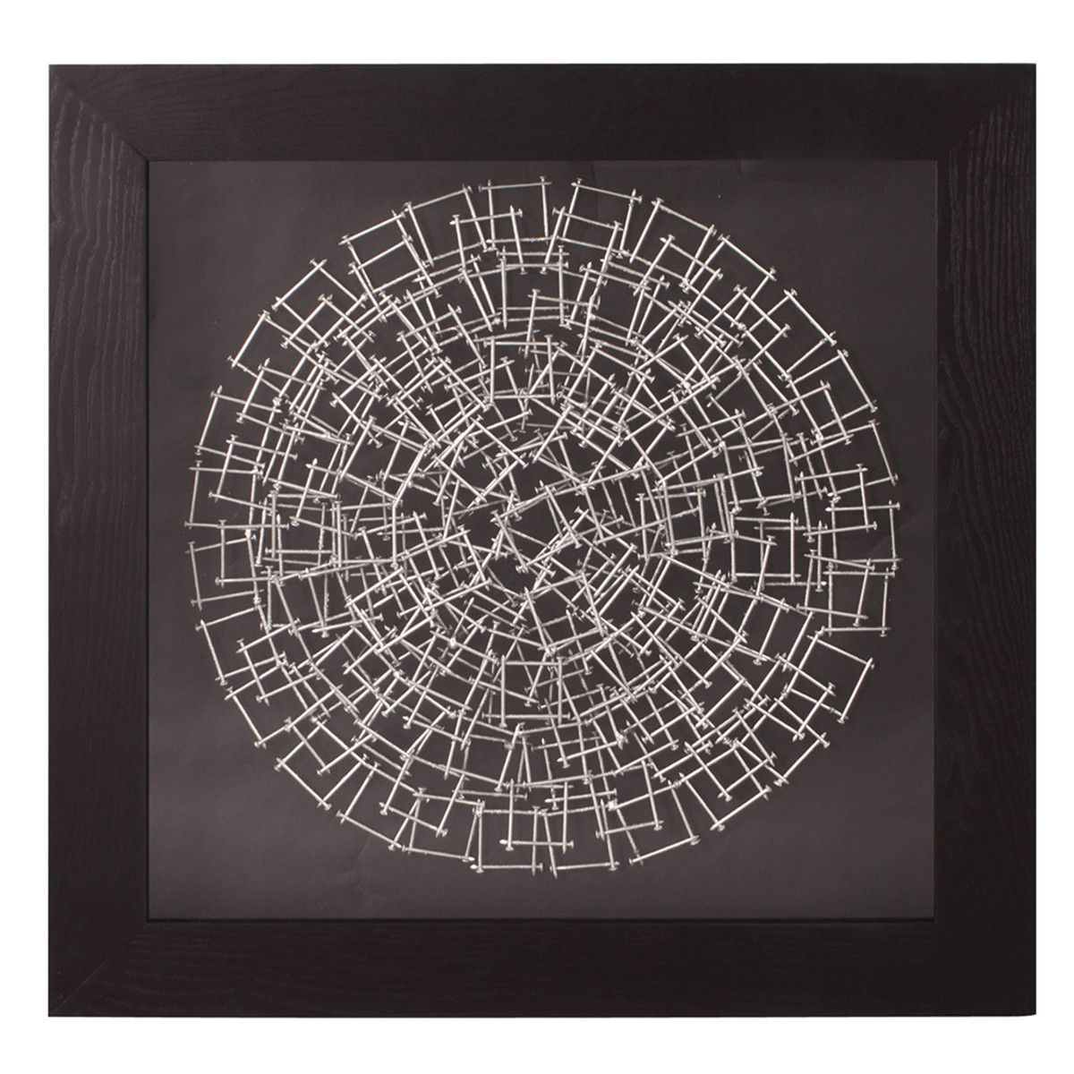 Howard Elliott Abstract Round Silver Nail Wall Art