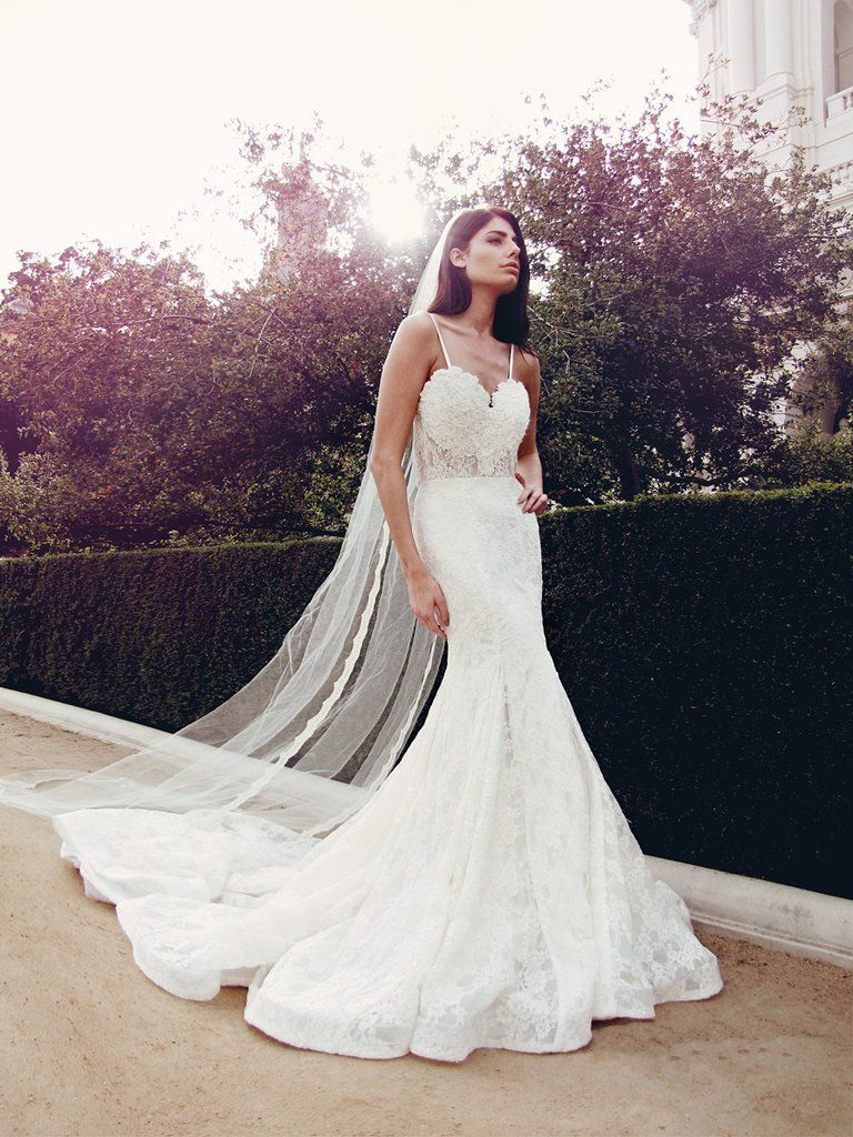 Ember LAUREN ELAINE BRIDAL Illusion wedding gown