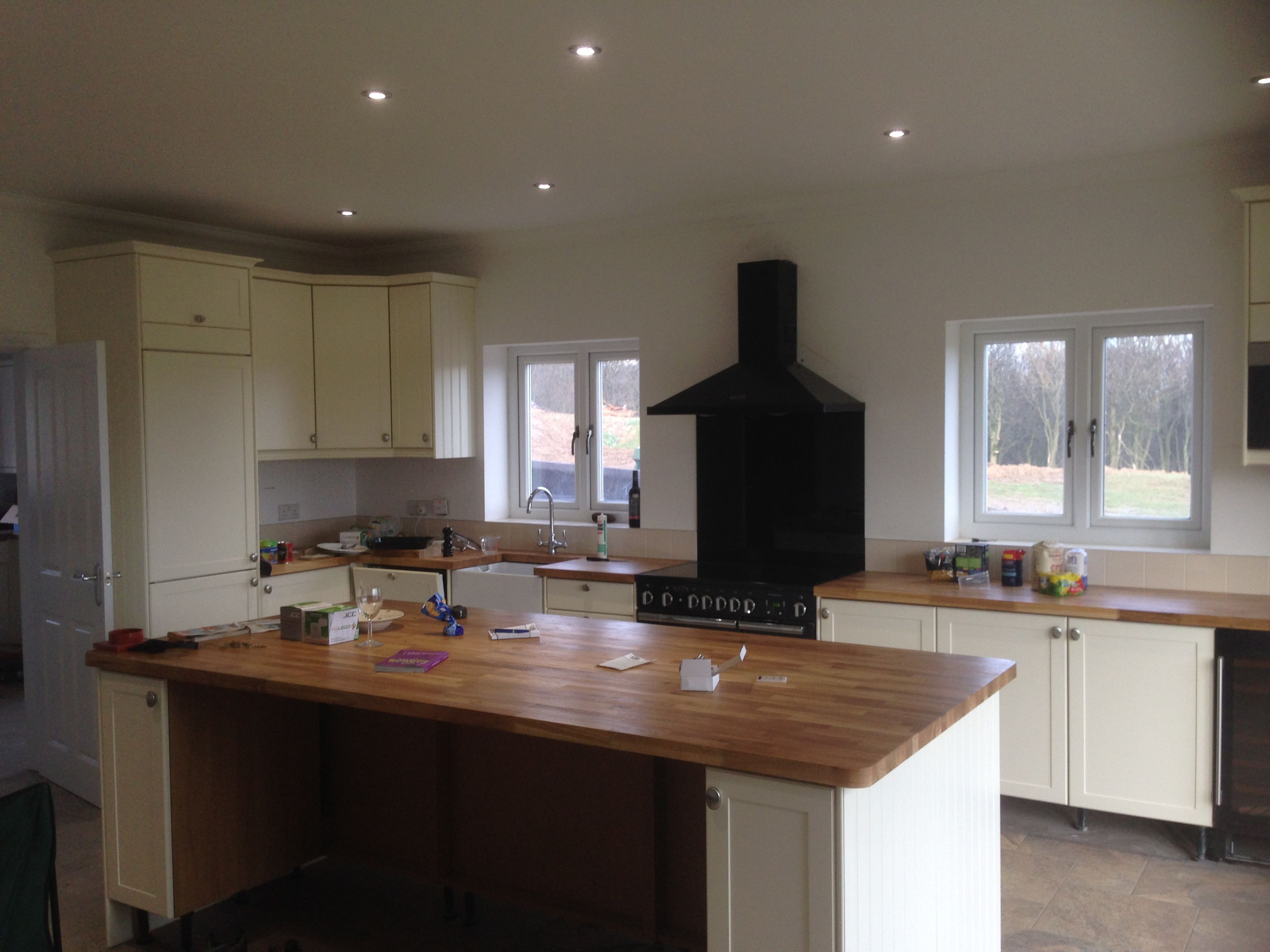 kitchen installation in progress within a brand new build property