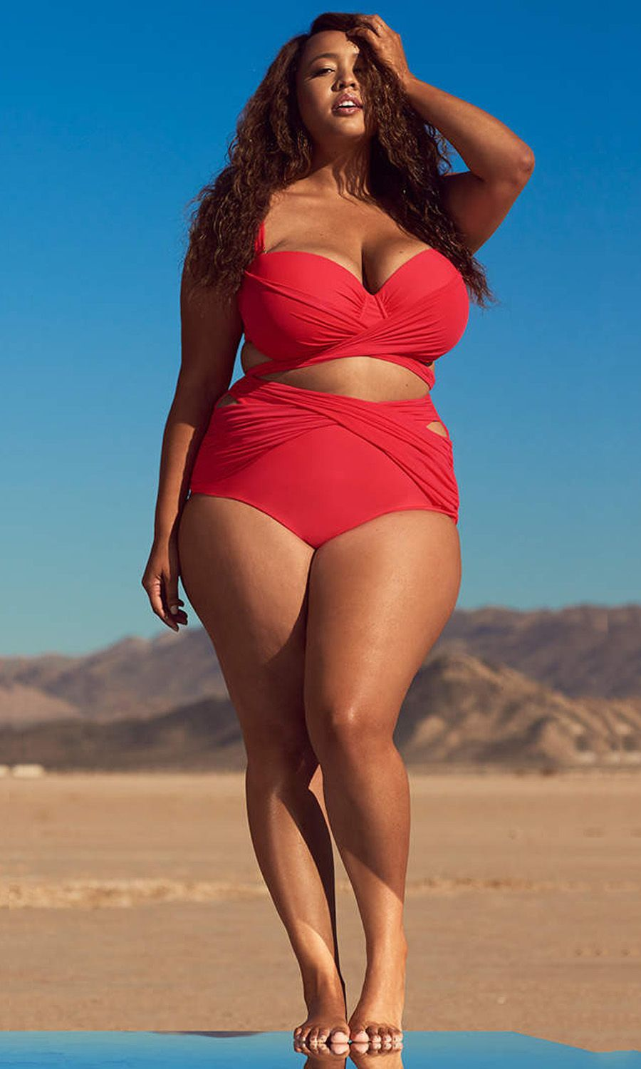 3ec30261330 ... plus-size swimwear shoot is turning body shaming resolutions on their  heads. The new swimwear collection of GabiFresh X SwimSuits For All is  amazing!