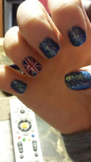 Union Jack Nail Designs Nails Diynails Glitter My Nails