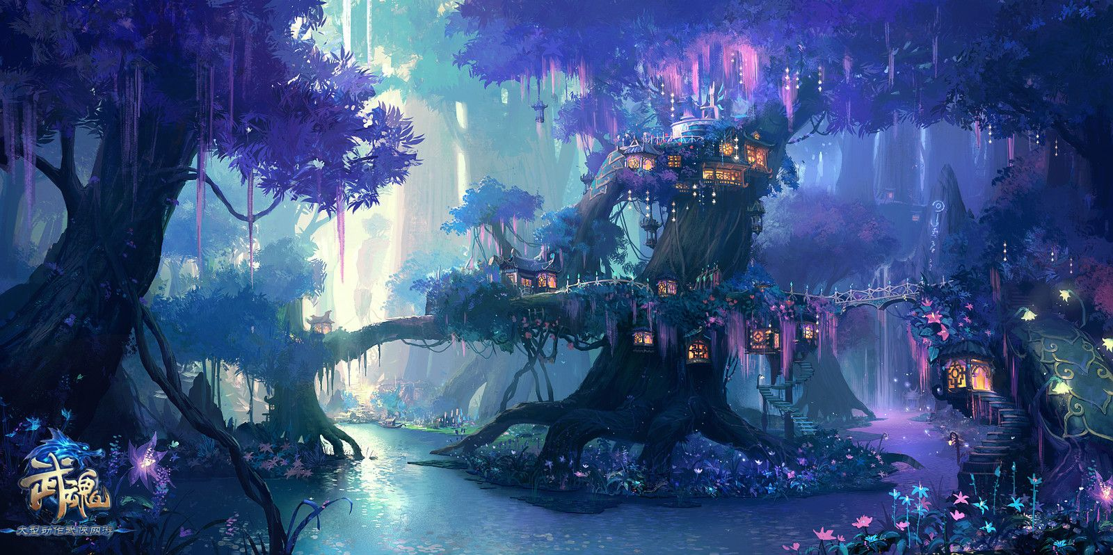 Pin By Leo Chen On Hua Fantasy Art Landscapes Fantasy