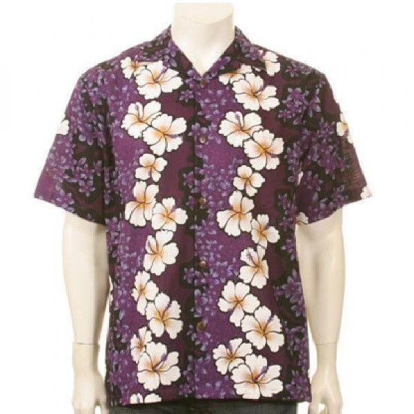 ee80d2d7 Purple Hibiscus Aloha Shirt | Re-Lei Heroes | Purple hibiscus ...