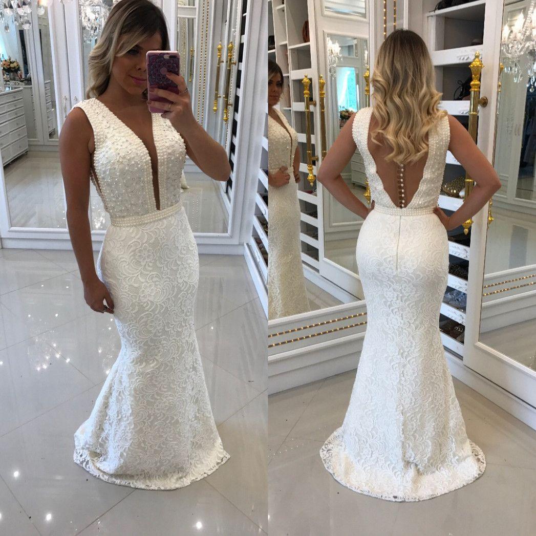 14 Abendkleid Weiß Lang Spitze in 2020 | Abendkleid weiß ...
