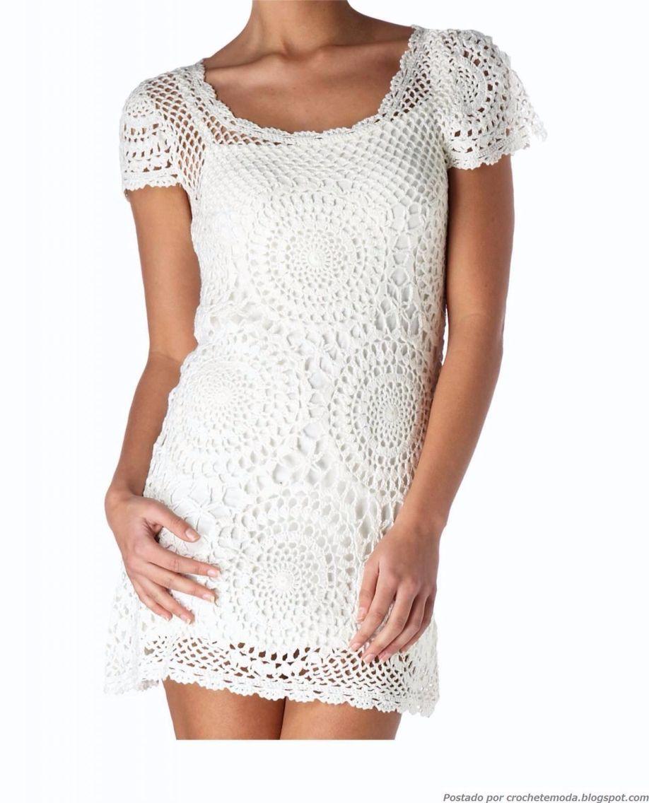 Vestido szydełko pinterest