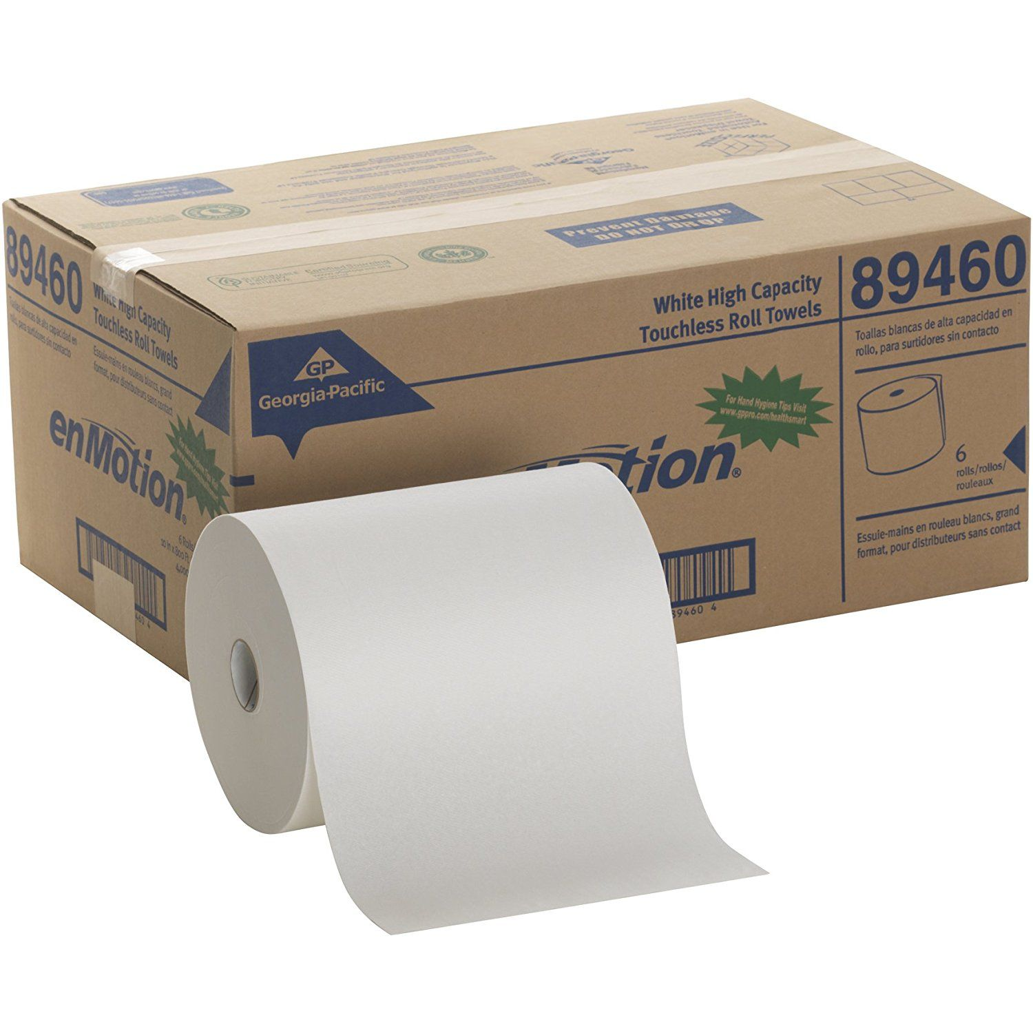 Georgia Pacific Enmotion 894 60 800 Length X 10 Width White High Capacity Touchless Roll Towel Roll Of How To Roll Towels Georgia Pacific Paper Towel Rolls