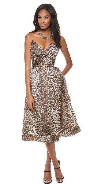 Strapless Leopard Dress