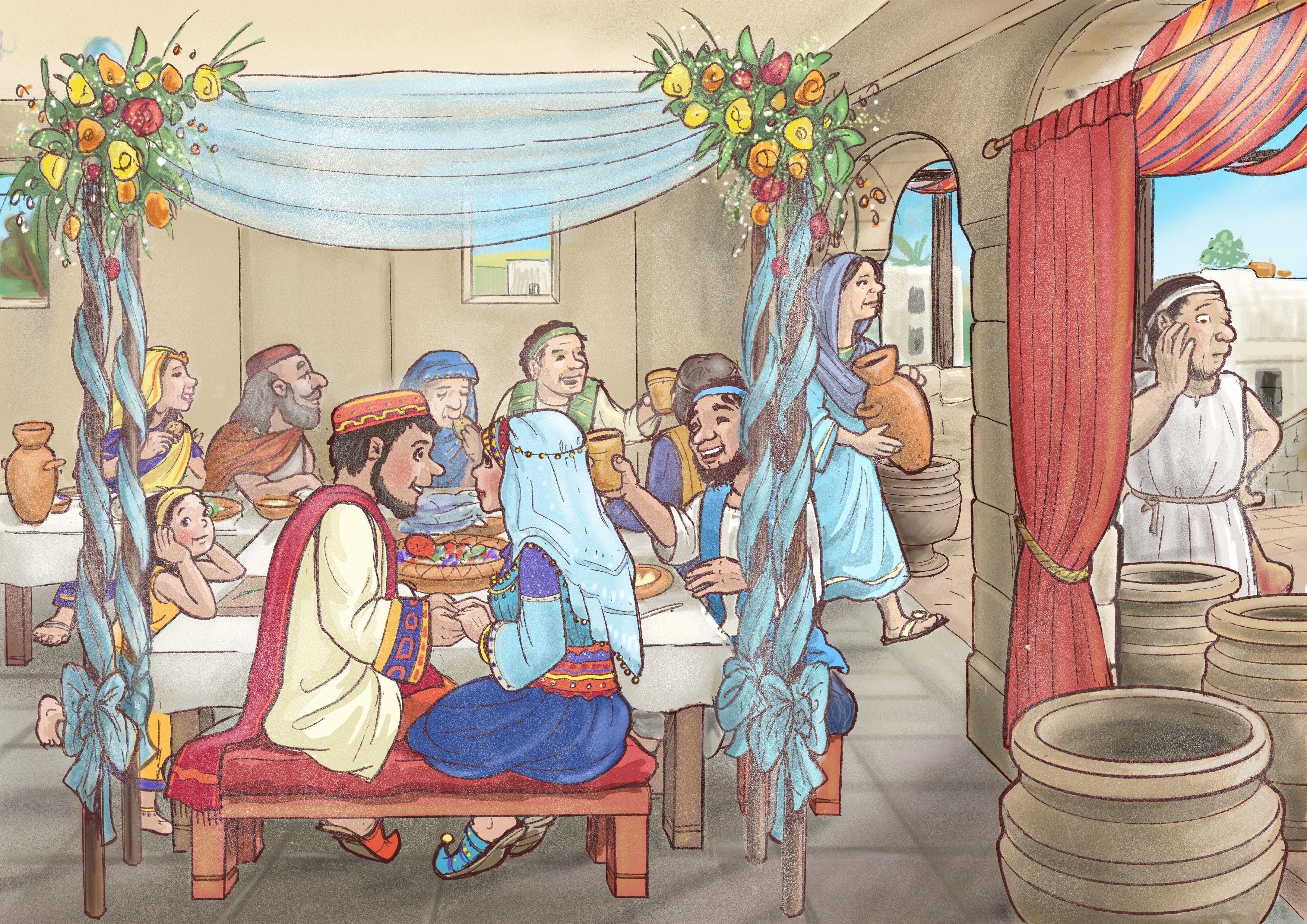 Hochzeit Zu Kana Bilder Zu Biblischen Geschichten Fur Vorschulkinder Sonntagschule Kinderbibel Vorschulkinder