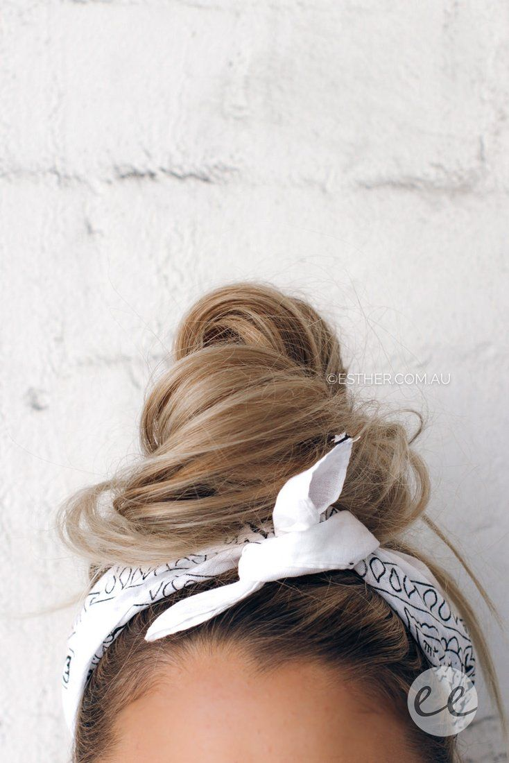 Hetta bandana in white hair pinterest bandanas hair style and