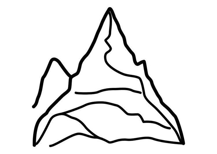 Dibujo Para Colorear Montana Img 10450 Montanas Dibujo Dibujos Para Colorear Montanas