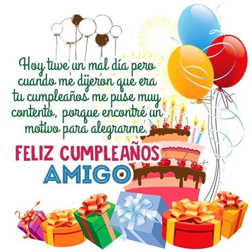tarjeta de feliz cumpleaños para un amigo motivo adry Pinterest