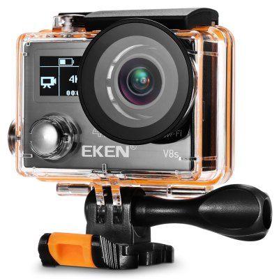 Eken V8s 4k Black Ambarella A12s75 Chipset Eis Anti Shake Function 170 Degree Fov 105 99 Coupon Gbekv8s A Action Camera Coupons Video Camera