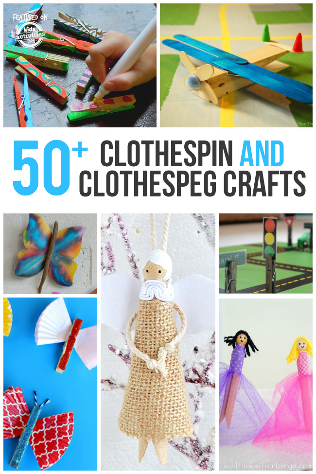 50 creative clothespin crafts household items for Fun things to build with household items