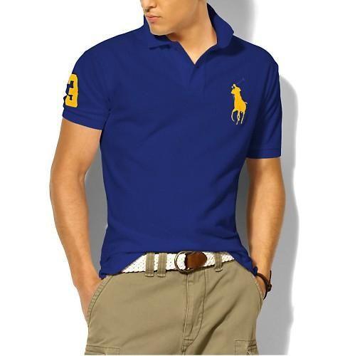 Ralph Lauren Men\u0027s Classic Slim-Fit Big Pony Short Sleeve Polo Shirt New  Sapphire /