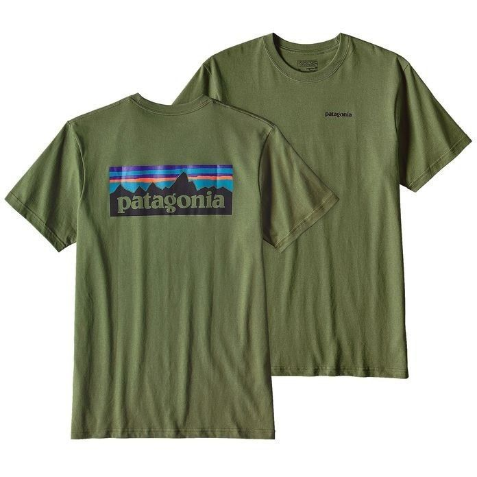 Patagonia Men's Logo Cotton T-Shirt - Buffalo Green