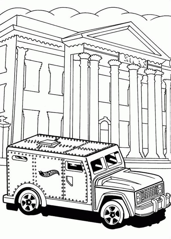 Hot Wheels Steel Car For Bank Coloring Page Netart Hot Wheels Coloring Pages Hot Wheels Cars