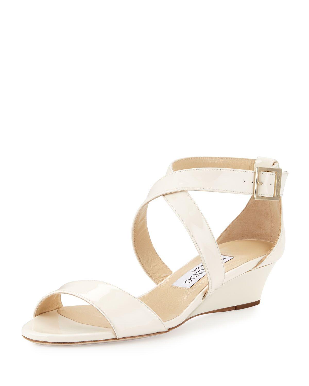 f9d659819 Chiara Patent Crisscross Wedge Sandal