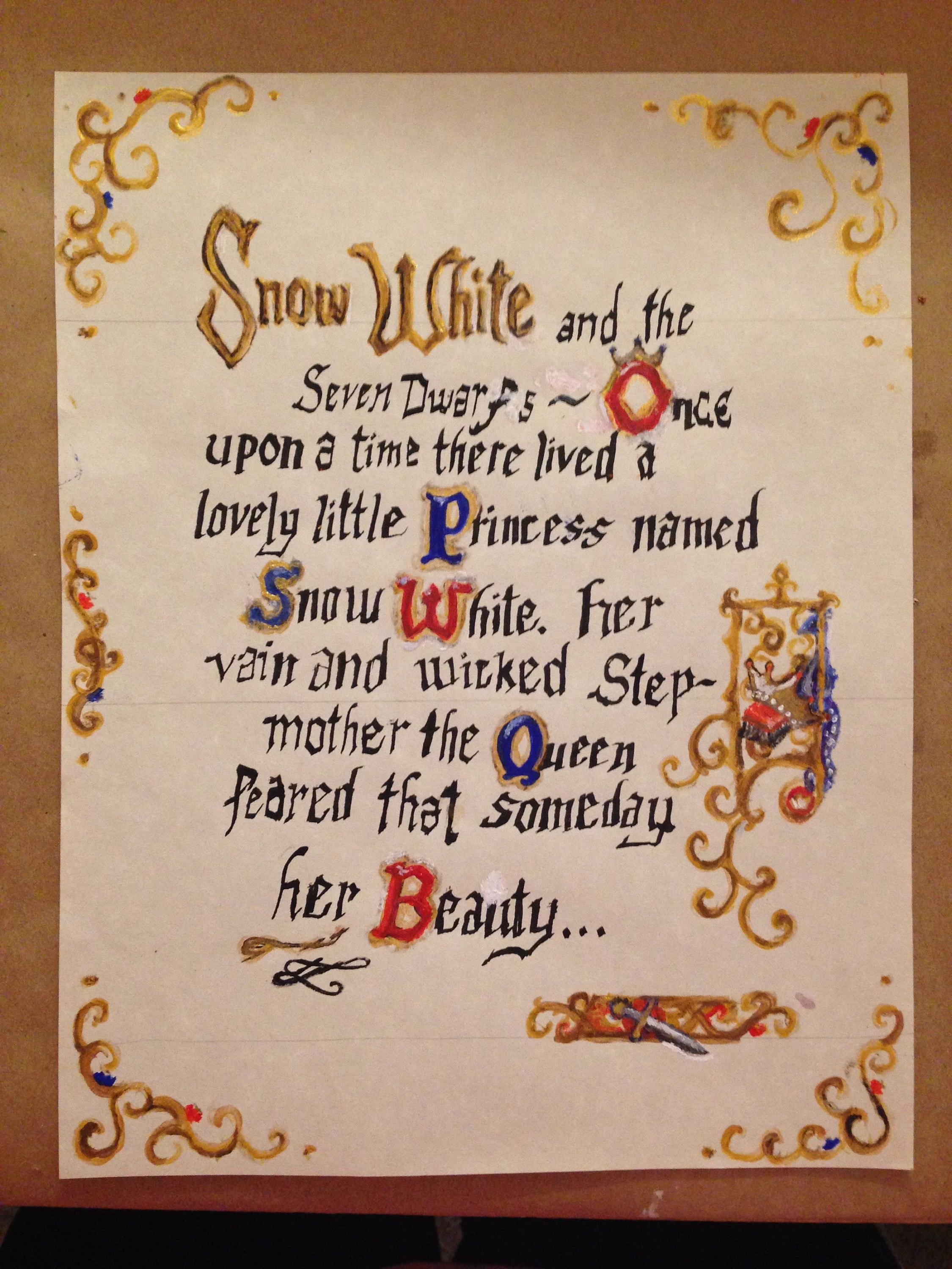 Snow White Storybook Page