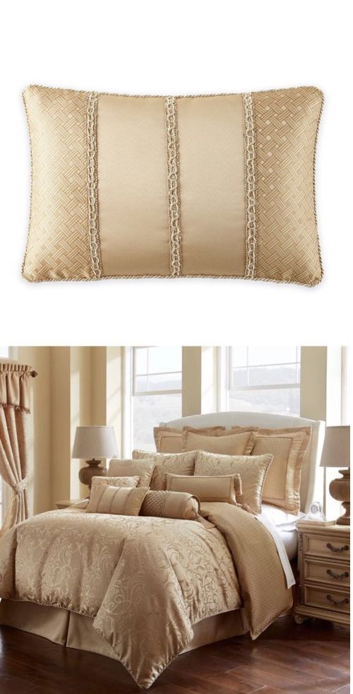 Decorative Bed Pillows 40 Waterford Linens Lynath Corded New Gold Decorative Bed Pillows