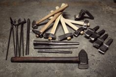 Blacksmithing tools, Made all of these with Tim Cisneros on a 12 day tool making class. Good fun and a lot learned!...pinner