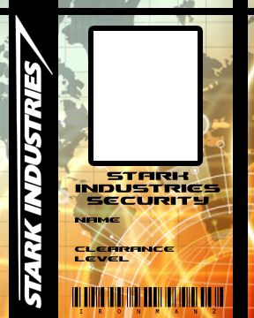 Blank Stark Industries Id Badge Found It On Deviantart I Did Not
