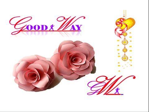 طريقة عمل وردة الجوري بالورق Diy Easy Paper Rose Hand Art Crafts Diy And Crafts