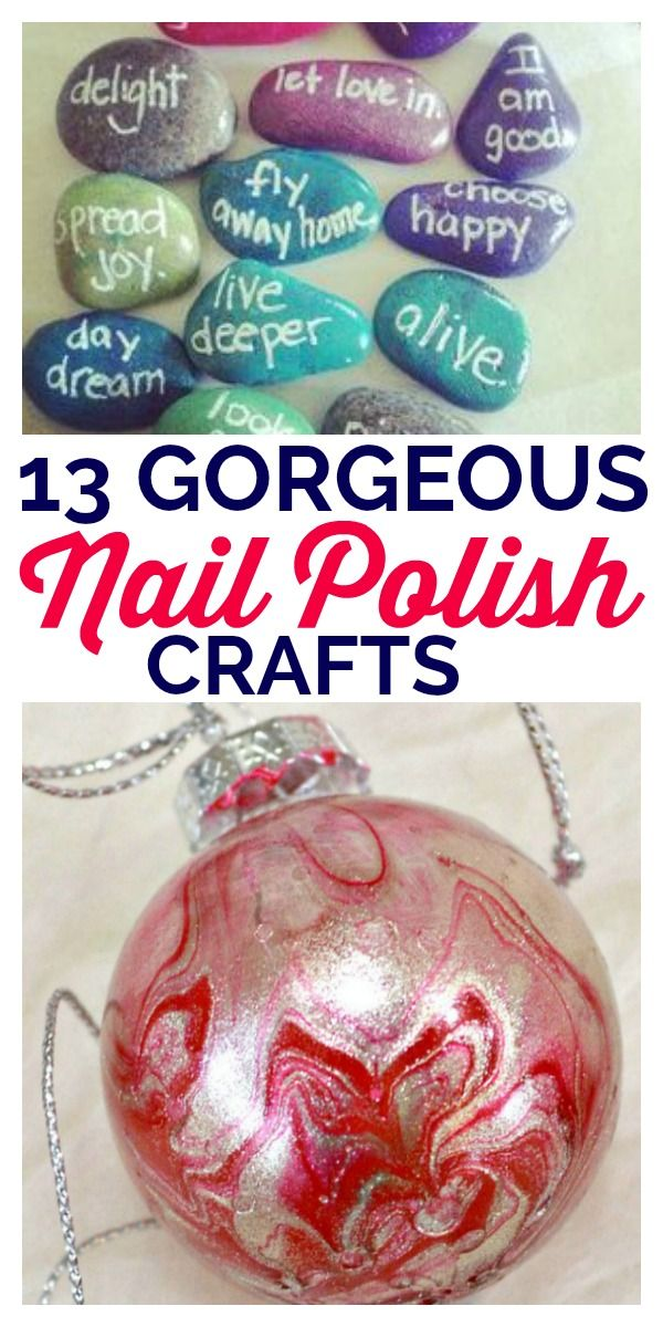 13 Gorgeous Nail Polish Crafts -   17 diy projects For School nail polish ideas