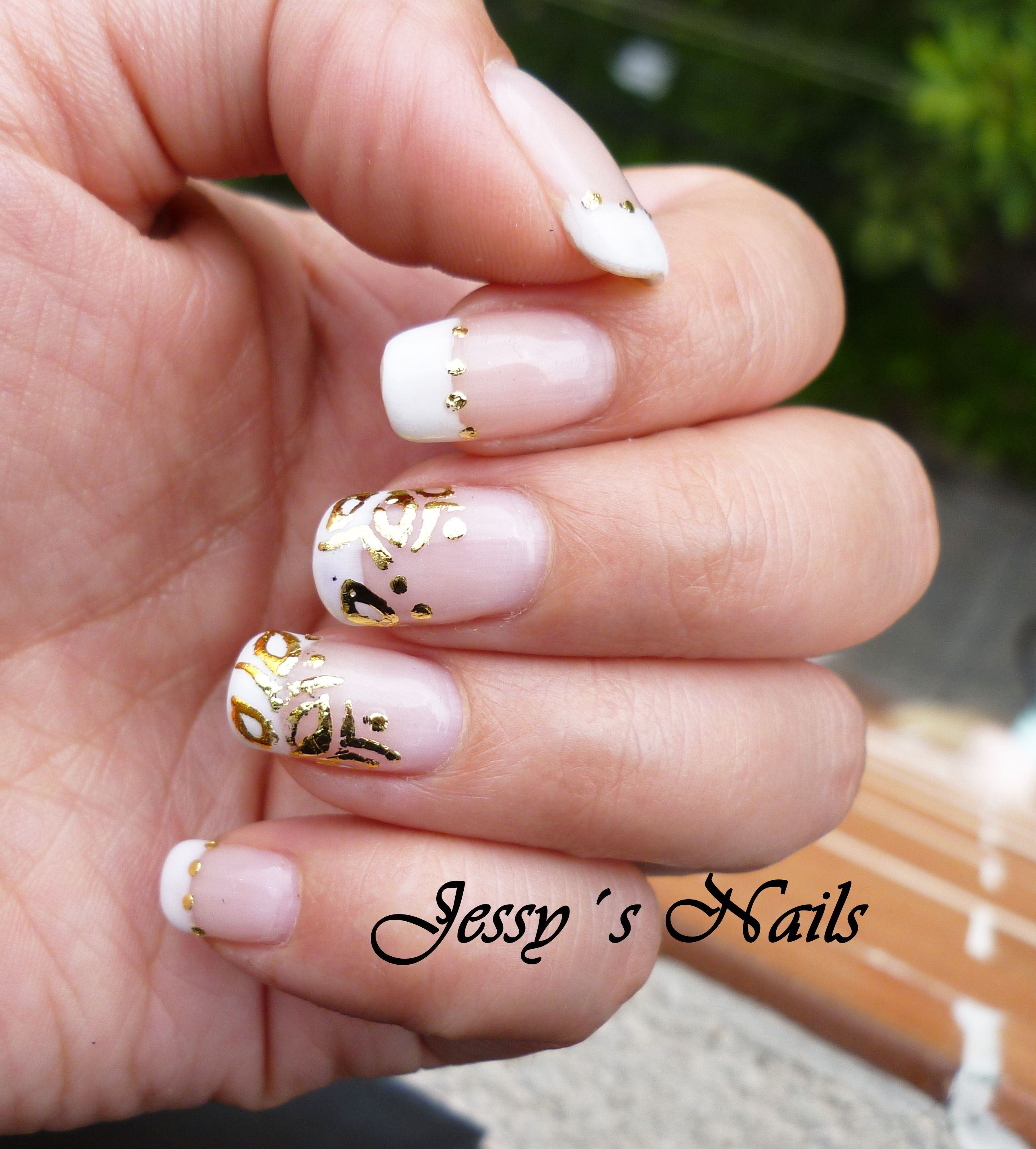 nail art for short nails, #foil #francesa