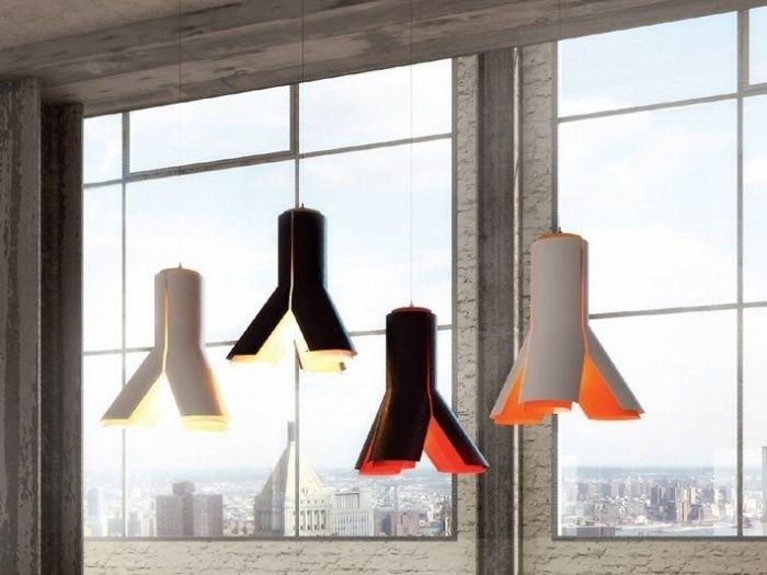 Wohnzimmer-Hängelampen Boky mit farbiger Innenseite-Frank Janssens - leuchten fürs wohnzimmer