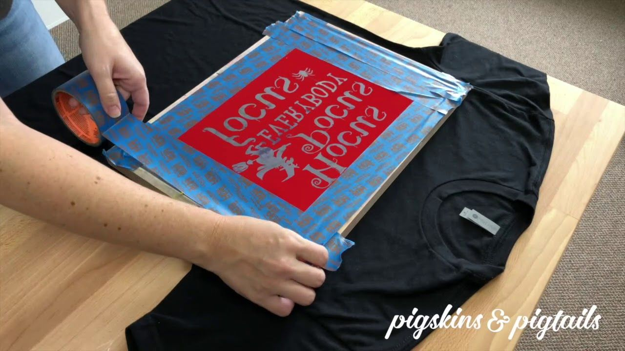 How To Screen Print Using Your Vinyl Cutter And Oracal 651 Vinyl Youtube Screen Printing Designs Screen Printing Screen Printing Projects