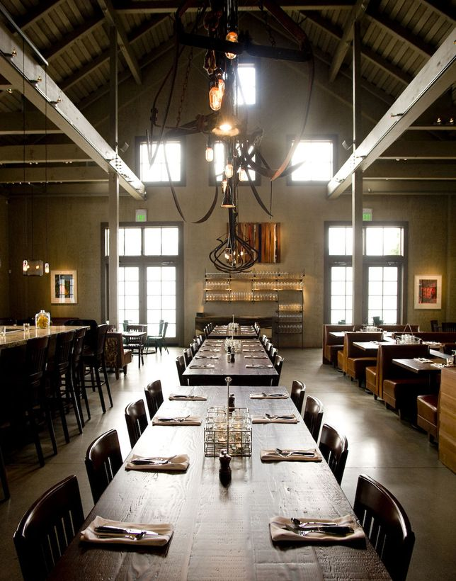 Farmstead Restaurant By EDG Interior Architecture Long Table With Roof.  Love The Modern Farm To