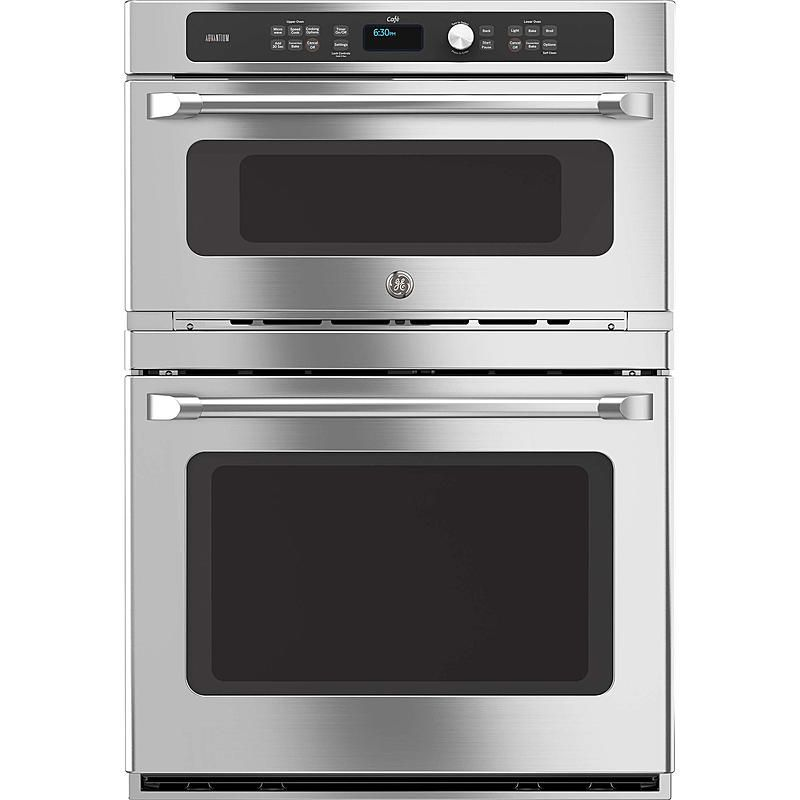 """Can You Use Metal In A Convection Microwave Oven: GE Cafe CT9800SHSS 30"""" Electric Double Wall Oven With"""