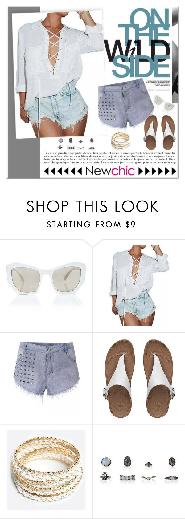 """NewChic"" by shambala-379 ❤ liked on Polyvore featuring Prism, Firth, FitFlop and ZooShoo"