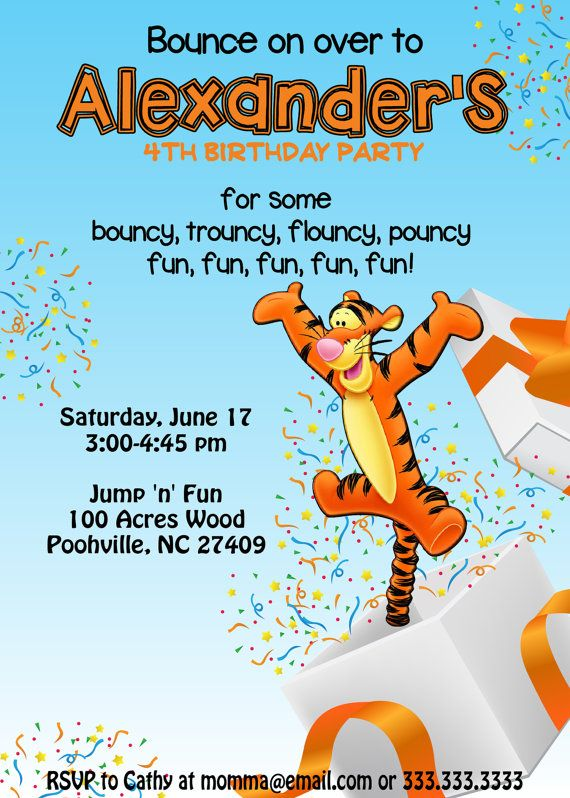 Tigger birthday invitation digital file by redferndesign on etsy tigger birthday invitation digital file by redferndesign on etsy 999 filmwisefo