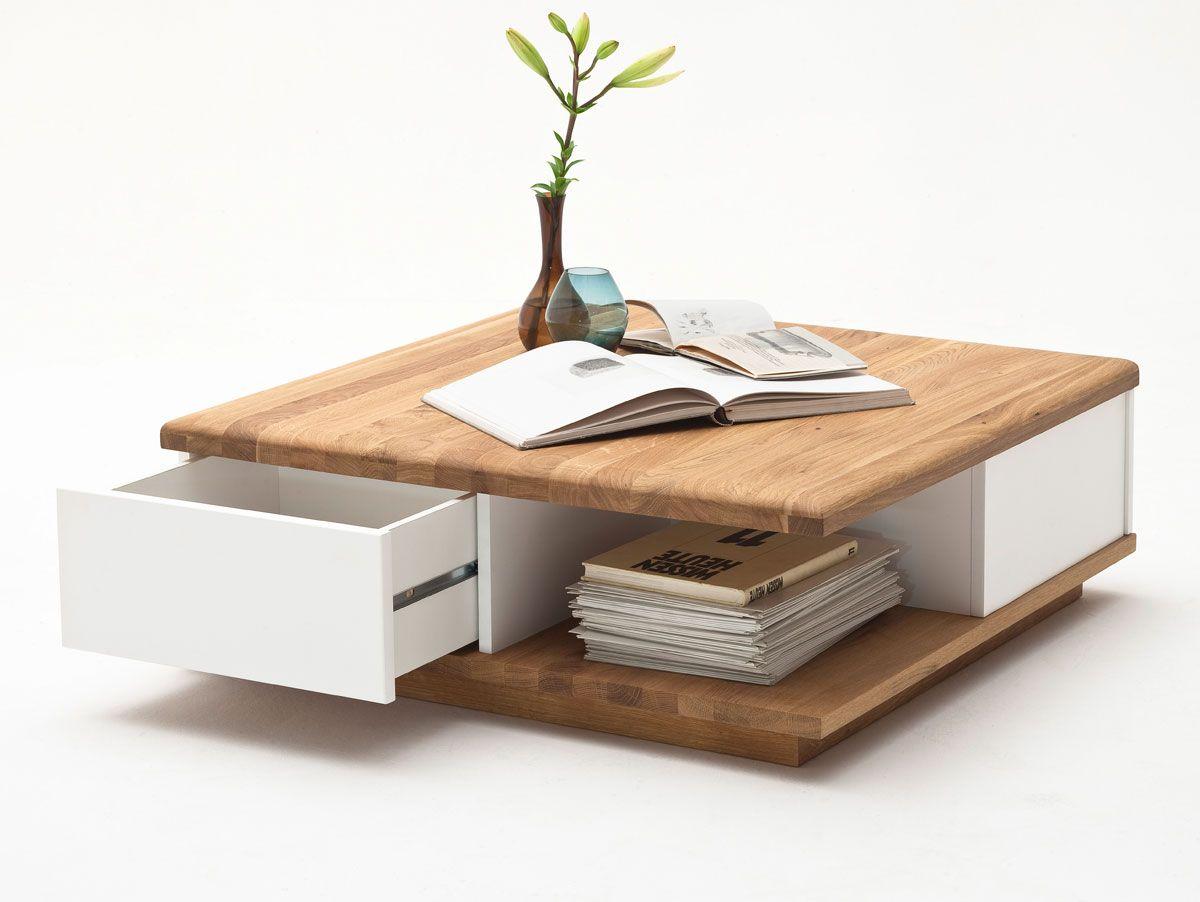 Bruno Couchtisch Asteiche Weiss Bauideen Centre Table Living Room