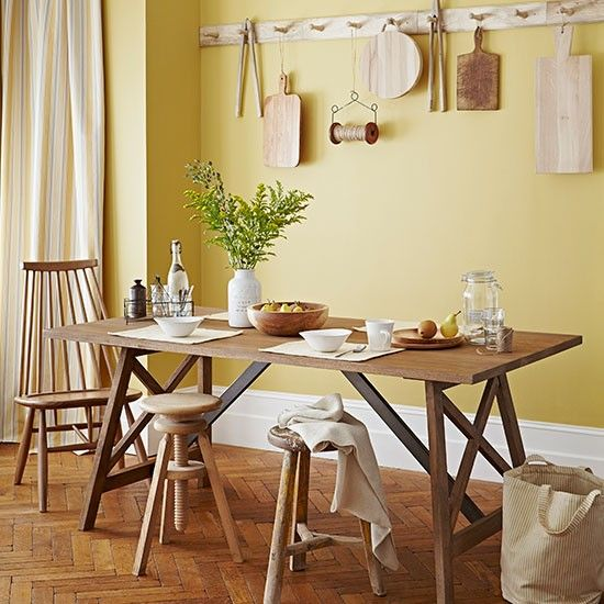 Primrose Yellow Country Dining Room