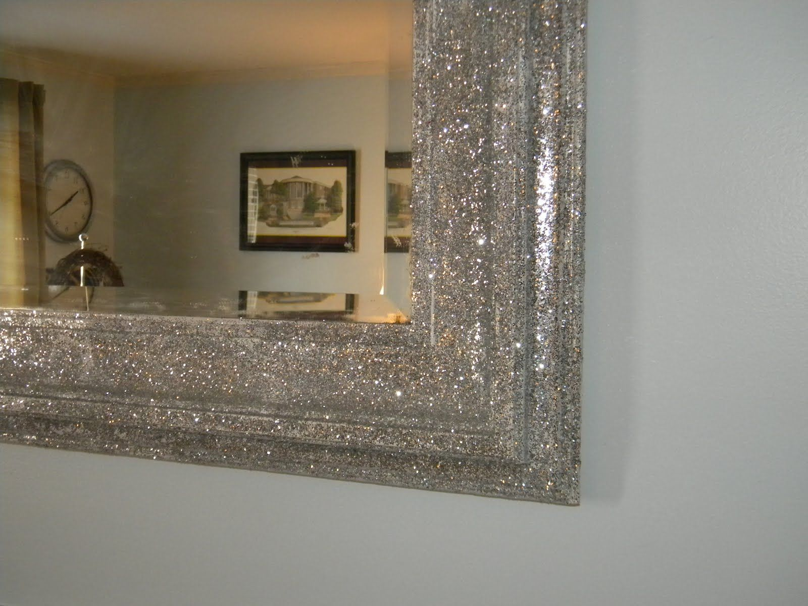 a few years ago my dad saw a large framed mirror on the side