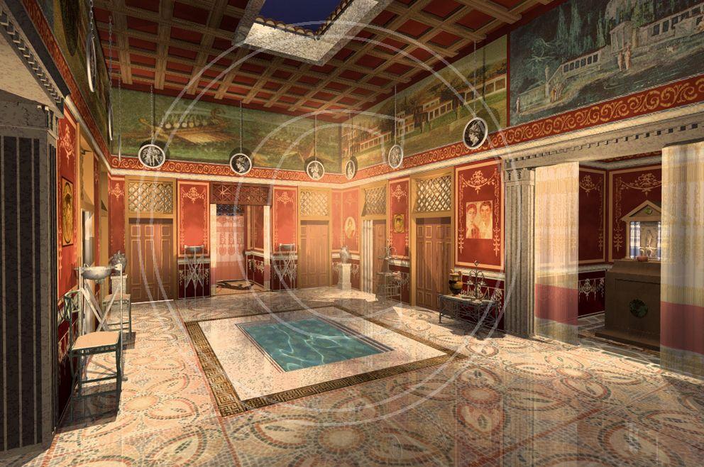 atrio casa romana Pesquisa Google Arquitectura romana