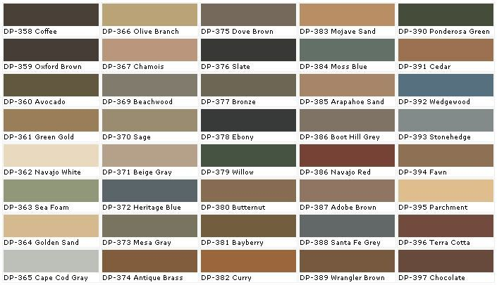 Paint And Stain Color Charts Behr Colors Behr Deck Over Colors Deck Paint