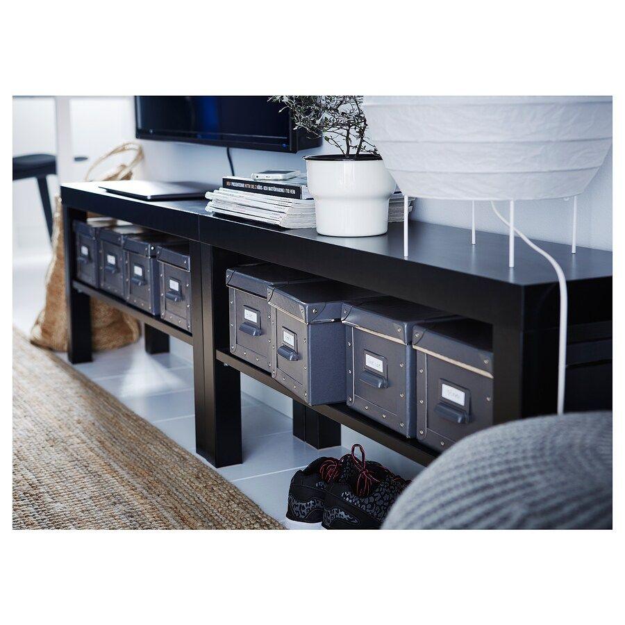 Lack Banc Tv Noir 90x26x45 Cm Ikea En 2020 Ikea Meuble Tele Banc Tv