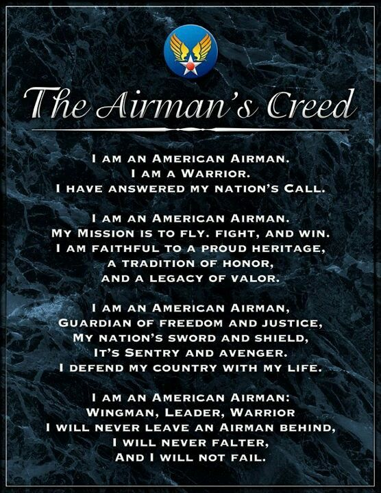 The airmans creed pinteres the airmans creed more altavistaventures Images