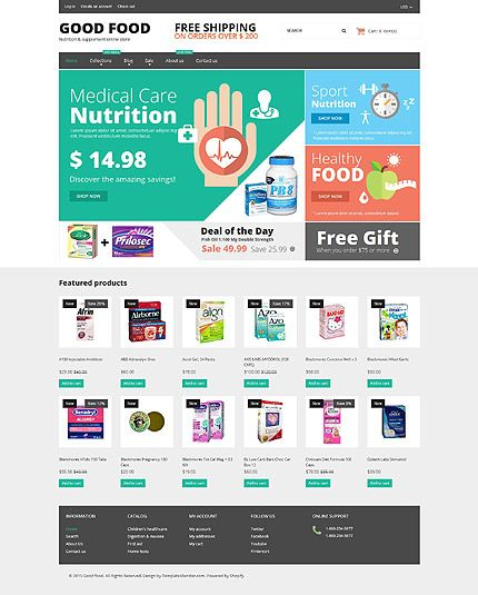 Template ID 53081 mY Website template, Ecommerce template