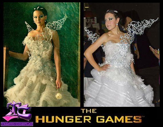 Vestito Da Sposa Katniss Everdeen.Katniss Everdeen Costume Cosplay Abito Da Sposa Di Tamiyocosplay
