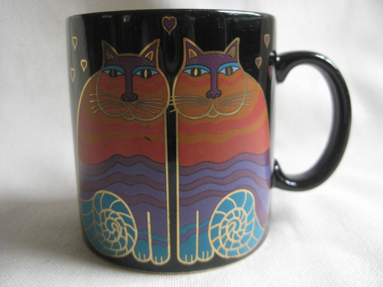 Vintage Laurel Burch Rainbow Cats Mug