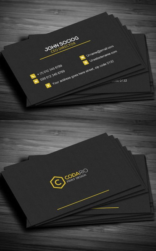 25 New Professional Business Card Psd Templates Design Graphic Design Junction Construction Business Cards Professional Business Cards Modern Business Cards
