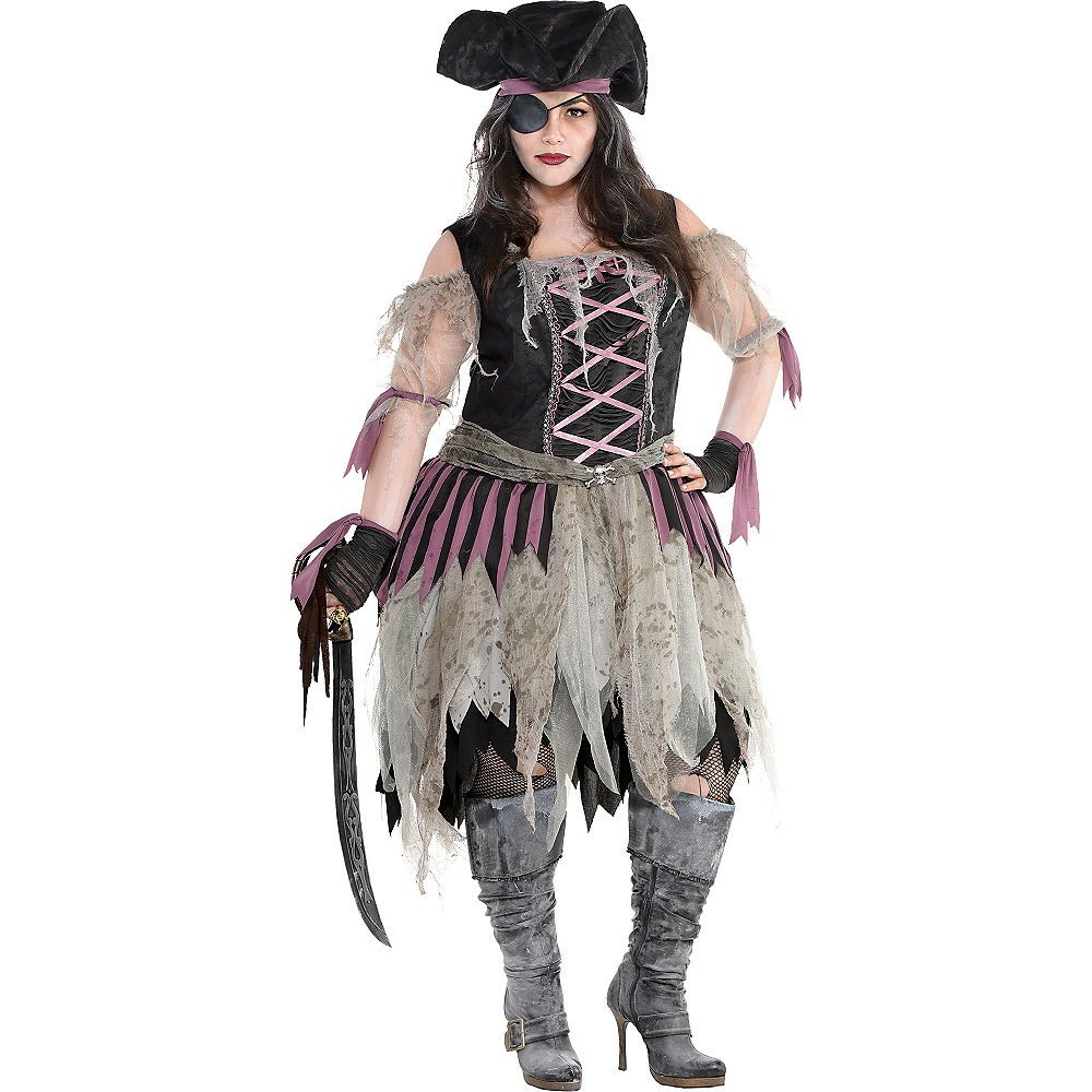 Adult Haunted Pirate Wench Costume Plus Size (With images
