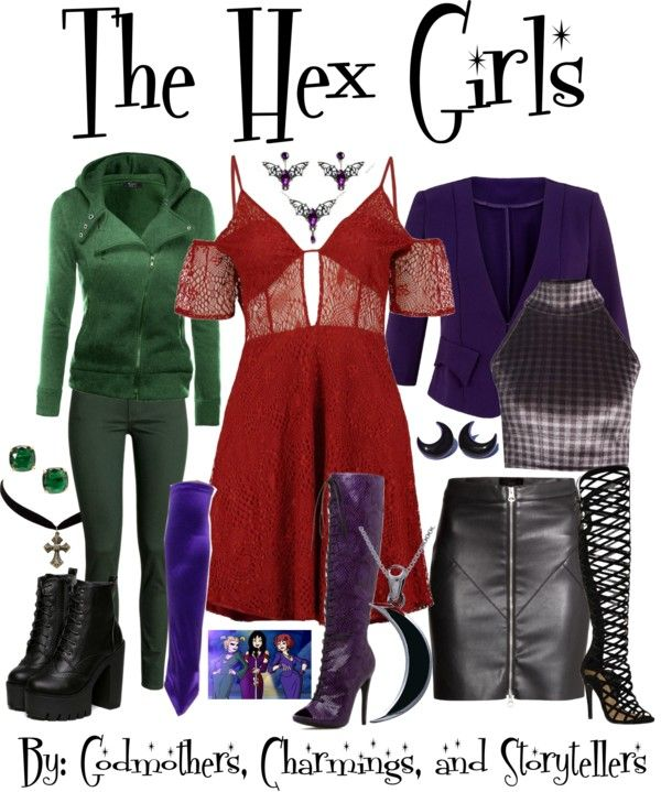 the hex girls the self proclaimed eco goth band from scooby doo - Band Halloween Costumes
